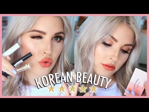 FULL FACE of Best Selling Korean Makeup ?? First Impressions & Review!