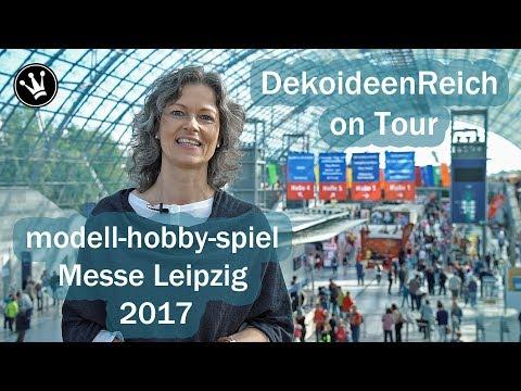 DekoideenReich on Tour: Deutschland größtes Bastelatelier | modell-hobby-spiel 2017 | Messe Leipzig