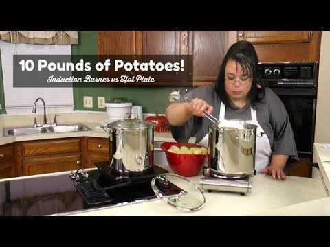 Cooking 10 Pounds of Potatoes on a Portable Burner | Sunavo Induction Burner vs Hotplate Review