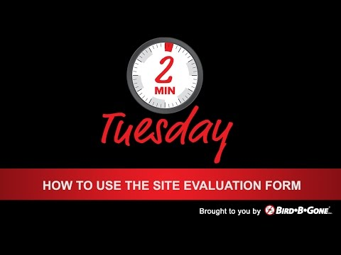 How to Use the Site Evaluation Form