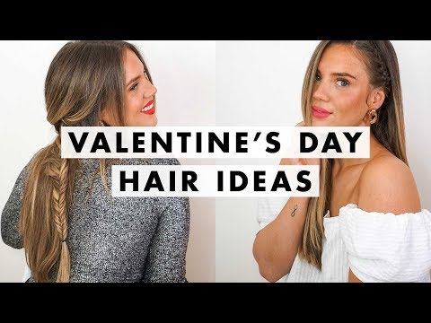 3 Valentine's Day Hairstyles for Straight Hair