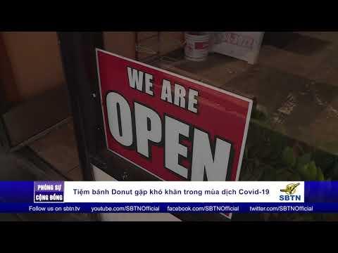 Phóng Sự Hoa Kỳ : Tiệm bánh Donut gặp khó khăn trong mùa dịch Covid 19