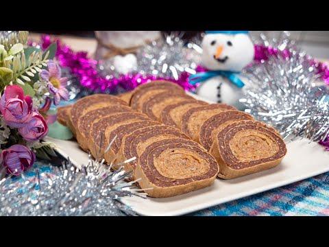 Dvobojna rolada - prelepi rolat u oblandi je pravi kolač za Novu Godinu
