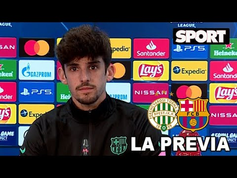 RUEDA DE PRENSA de TRINCAO🎙PREVIA FERENCVAROS – FC BARCELONA: «SOLO PIENSO EN EL BARCELONA»