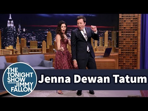 Jenna Dewan Tatum Teaches Jimmy the Tatum Body Roll World of Dance host and mentor Jenna Dewan Tatum shares the time she fell off a stage while backup dancing for Janet Jackson