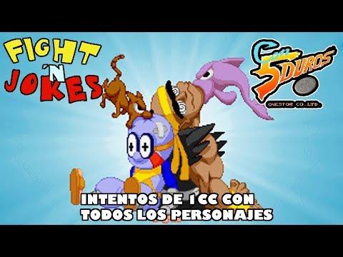 DIRECTO: FIGHT 'N' JOKES (MS-DOS) - Intentos de 1cc con todos los personajes