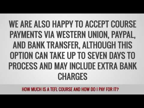 video about a TEFL course cost and the way to pay for if you choose ITTT