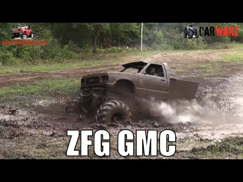 ZFG GMC Truck Running All Out At Bentley Lake Road Mud Bog Fall 2018