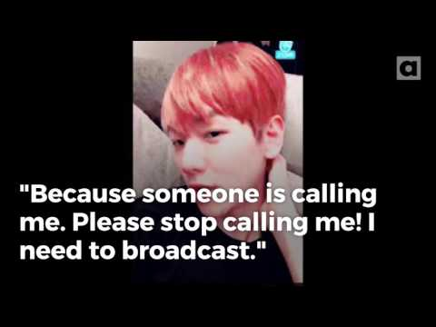 EXO's Baekhyun apologizes for sasaeng fan calls constantly interrupting 'V' live broadcast