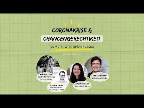 Chance Studium 2020: Coronakrise und Chancengerechtigkeit. Die Online-Diskussion