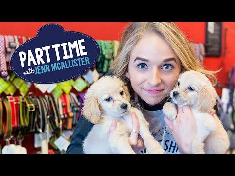JennXPenn babysits Puppies | Part Time W/Jenn McAllister