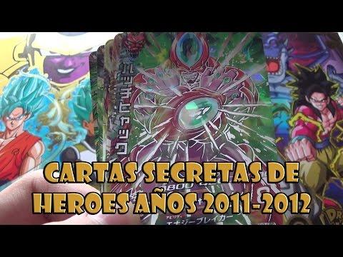 Dragon Ball Heroes - Selección de Cartas Secretas de Heroes 2010, 2011 y 2012 H1 a H8