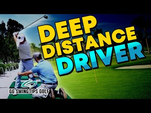 Deep Distance Driver Golf Swing | Steep Downswing Fix