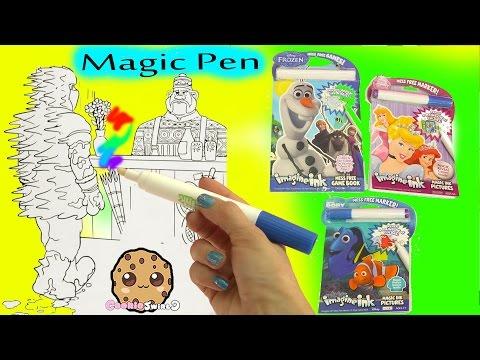Magic Imagine Ink Rainbow Color Pen Surprise Picture Books of Disney Frozen, Finding Dory + More - UCelMeixAOTs2OQAAi9wU8-g