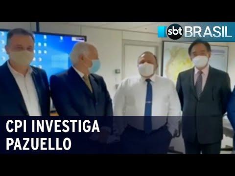 CPI investiga vídeo em que Pazuello negocia vacina pelo triplo do preço   SBT Brasil (16/07/21)