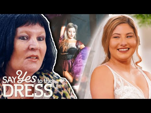 Video: Former Burlesque Dancer Finds A Dress Her Mother Loves Too   Say Yes To The Dress: Lancashire