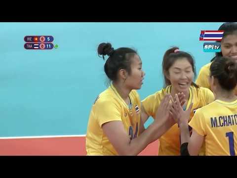 ไฮไลท์ วอลเลย์บอลหญิง รอบชิงฯ ไทย v เวียดนาม (เซทที่ 1) 9 ธ.ค. 2019