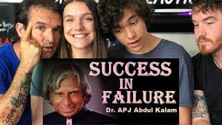APJ Abdul Kalam | Inspirational | Manage failure and success SPEECH REACTION!!!