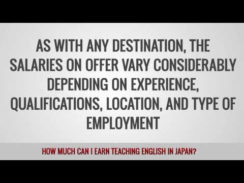 video about the money you can get paid in Japan