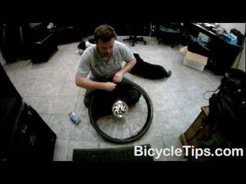 Changing the tube on a bike tire
