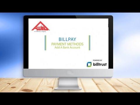 BillPay Payment Methods, Add a Bank Account