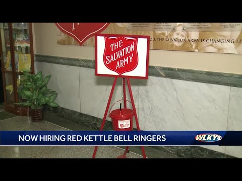 Salvation Army hiring Red Kettle Bell ringers needed