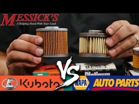 Napa Filters VS Kubota Filters - Do you need OEM filters? Picture