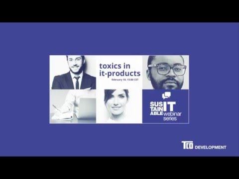 Webinar - Toxics in IT-products