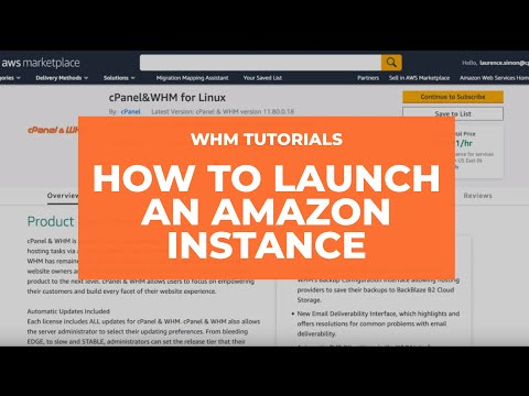 WHM Tutorials - How to Launch an Amazon Instance