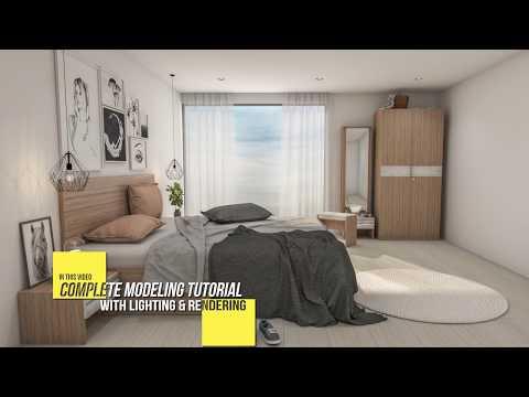 Bedroom Room Modeling Tutorial in 3ds max - Part 1