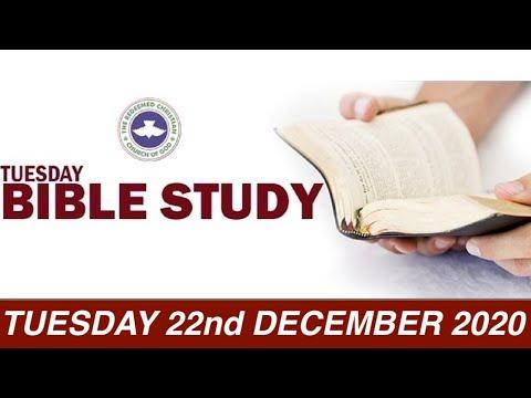 RCCG DECEMBER 22nd 2020 BIBLE STUDY
