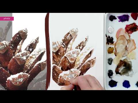 How to paint realistic snow in watercolor with Anna Mason