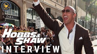 Hobbs & Shaw World Premiere Interviews with Dwayne Johnson and More