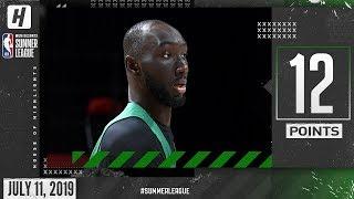 Tacko Fall Full Highlights Celtics vs Grizzlies (2019.07.11) Summer League - 12 Pts, 4 Blocks!