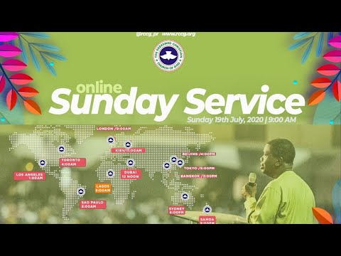 RCCG JULY 19th 2020  PASTOR E.A ADEBOYE SPECIAL SERVICE
