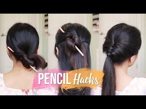 Easy Hair Hacks Using a Pencil ♥ Hairstyles Tutorial
