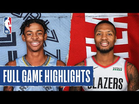 GRIZZLIES at TRAIL BLAZERS | FULL GAME HIGHLIGHTS | July 31, 2020