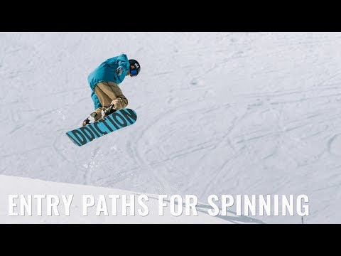 Entry Paths For Spinning On A Snowboard
