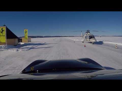 GTC4 Lusso on ice In Lappland