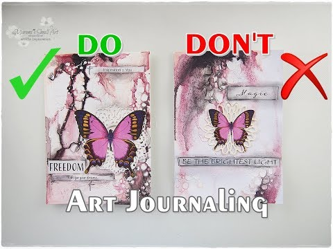 DOs & DON'Ts Art Journaling for Beginners ♡ Maremi's Small Art ♡