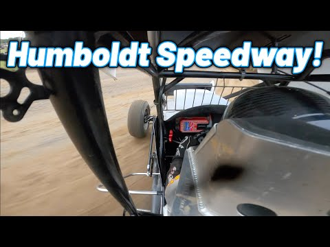 Tanner Holmes First Laps Around The Humboldt Speedway in a 410 Sprint Car! - dirt track racing video image