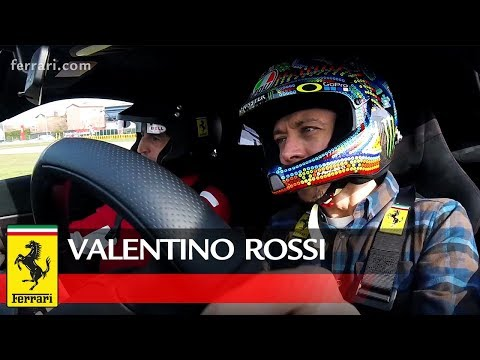 Valentino Rossi at the wheel of the Ferrari 488 Pista