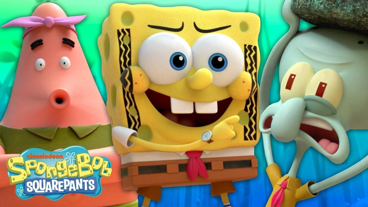 """SpongeBob Goes on a Truck Hunt! 🍔 """"Quest for Tire""""   Kamp Koral"""