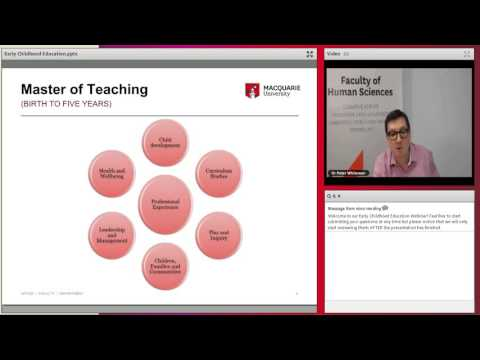 Early Childhood Education at Macquarie University