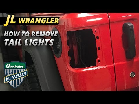 How to Remove the Factory Tail Lights on a 2018 Jeep Wrangler JL