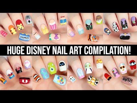 New Nail Art 2021   Disney Nail Art Tutorial Design Compilation