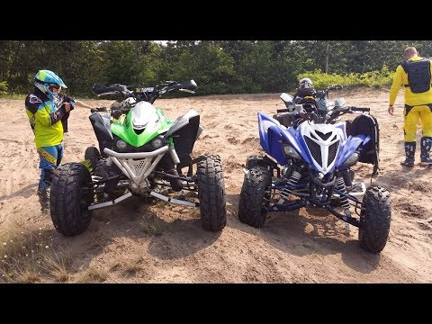 2018 Yamaha Raptor 700 - First ride on a new quad + Straz lesna zablokowala nam droge