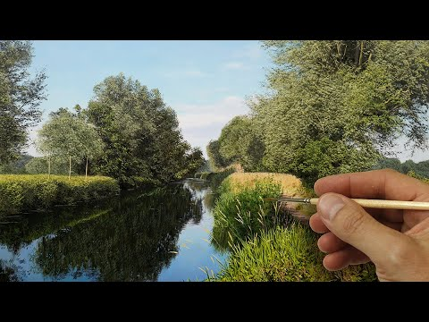 PAINTING MY LOCAL RIVER! | Time Lapse | Episode 176