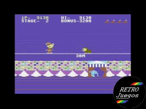 Circus Charlie (Commodore 64) - Review de RETROJuegos por Fabio Didone