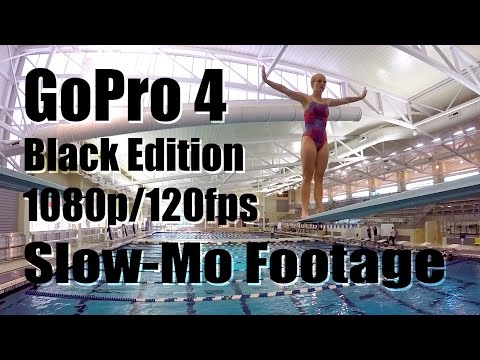 GoPro HERO 4 Black Edition 1080p/120fps Slow Motion Diving Footage (GoPro HERO4)